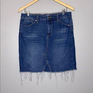 Universal Thread Light Distressed Jean Mini Skirt